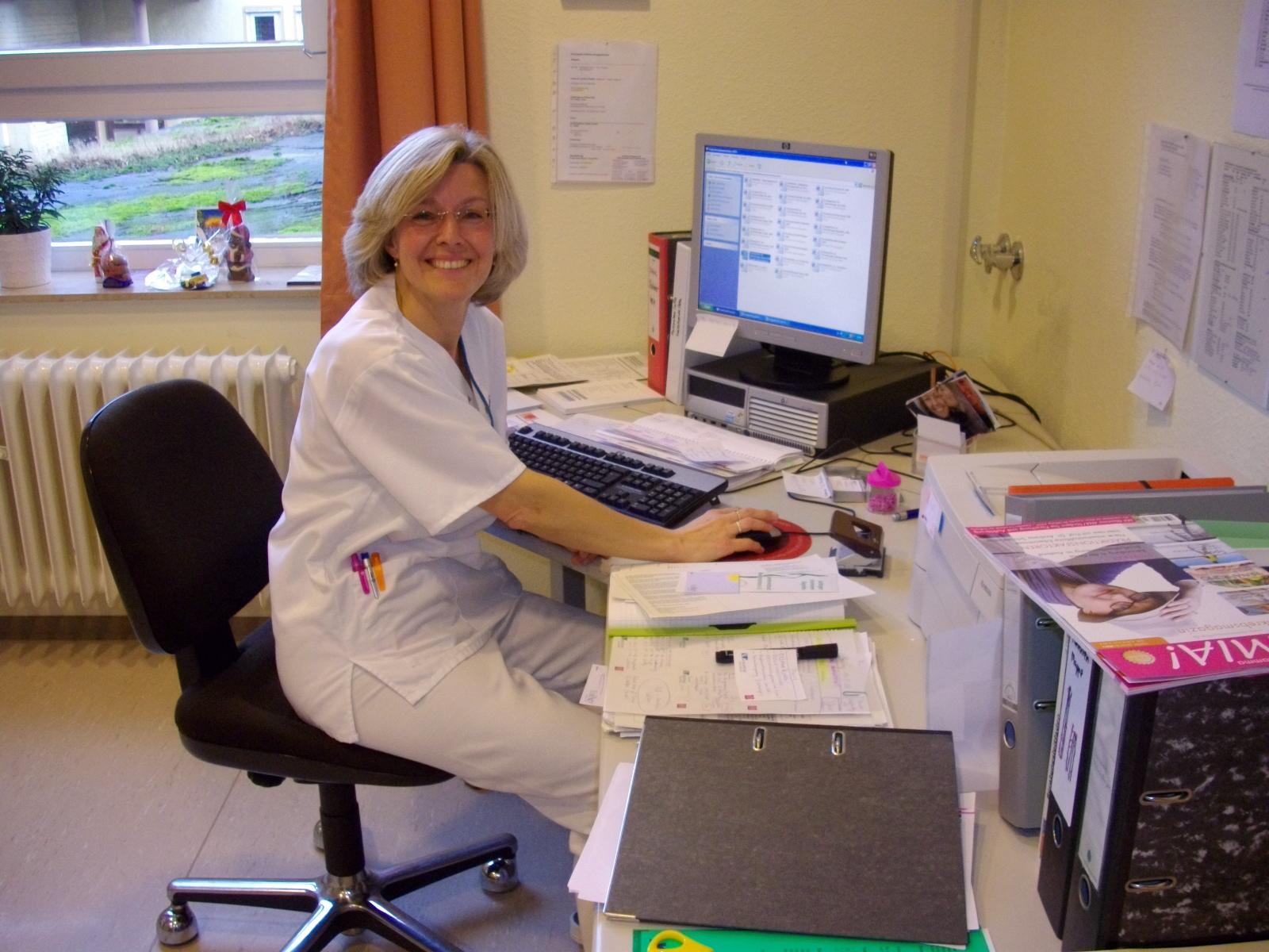 Inka Marie Rack bei der Arbeit